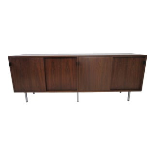 Florence Knoll Walnut Credenza by Knoll For Sale