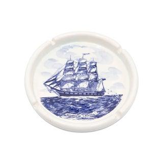 Blue Delft Ceramic Ship Ashtray Preview