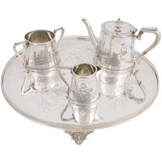 Three-Piece Child's Tea Set and Tray