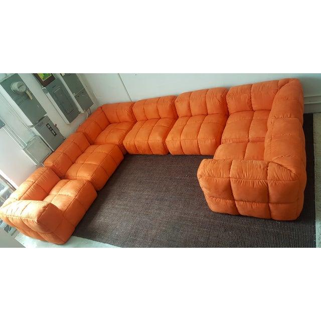 1970s Monumental Tufted Modular Sofa - Image 5 of 8