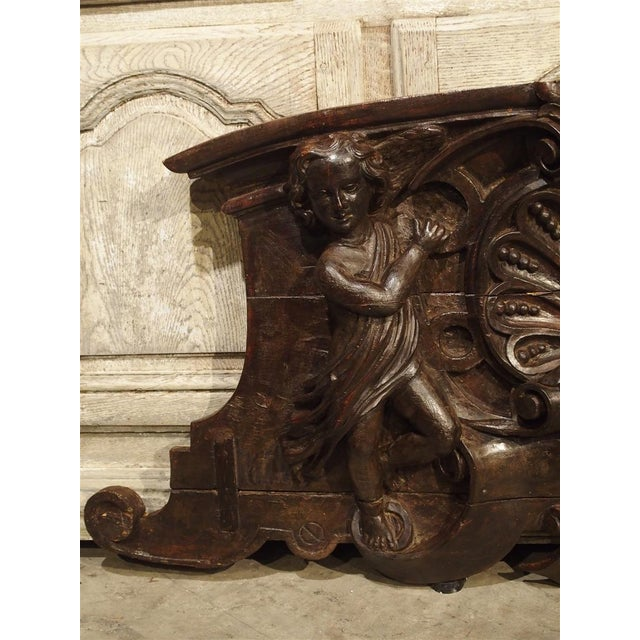 18th Century Carved Wooden Overdoor From France For Sale - Image 10 of 13