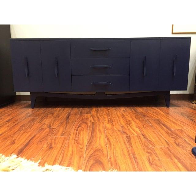 Vintage Blue Mid-Century Modern Dresser - Image 4 of 6
