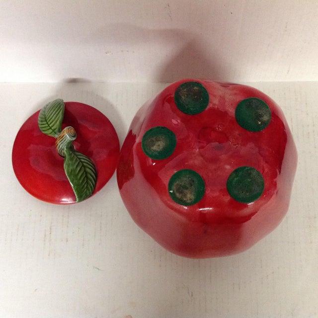 Vintage Apple Shaped Cookie Jar For Sale - Image 5 of 5