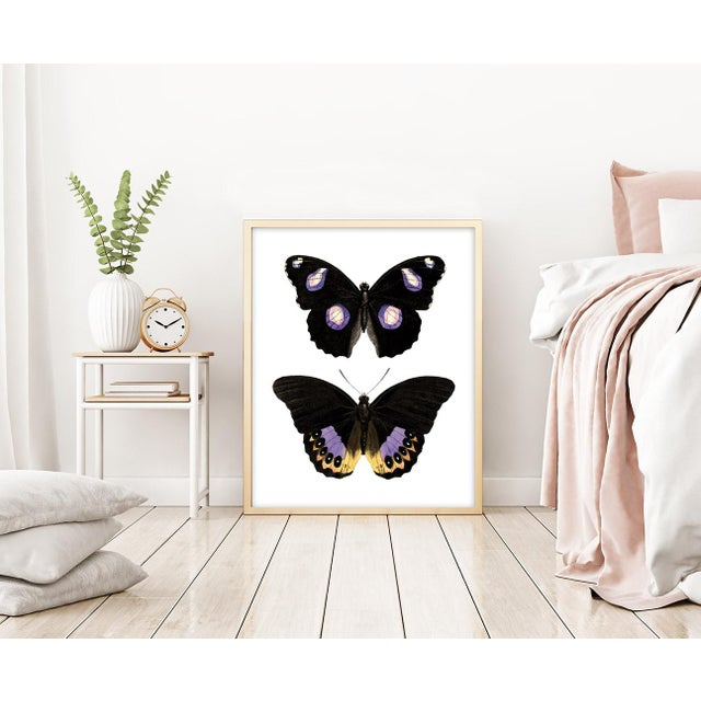 Carnaby Butterflies in Purple and Yellow Art For Sale - Image 4 of 6