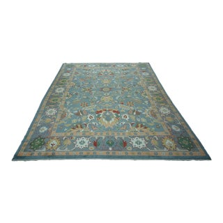 Turkish Oushak Hand-Knotted Wool Rug - 10′4″ × 13′10″