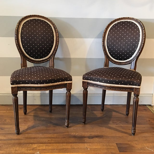 Queen Anne Side Chairs - A Pair - Image 2 of 8