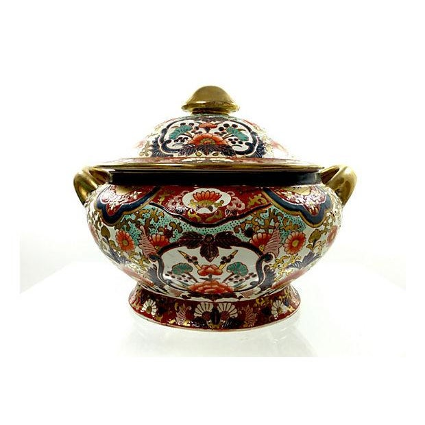 Hand-Painted Decorative Chinese Tureen - Image 4 of 7