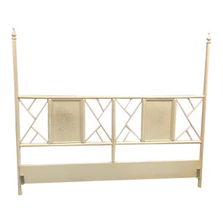 Multi Panel Chinese Chippendale King Headboard For Sale