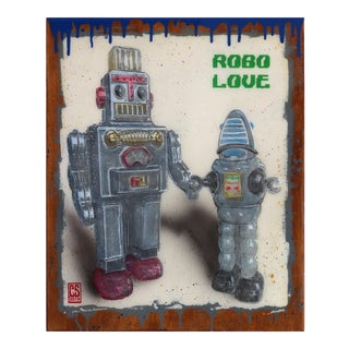 """Silver Robo Love"" Original Artwork by Carl Smith For Sale"