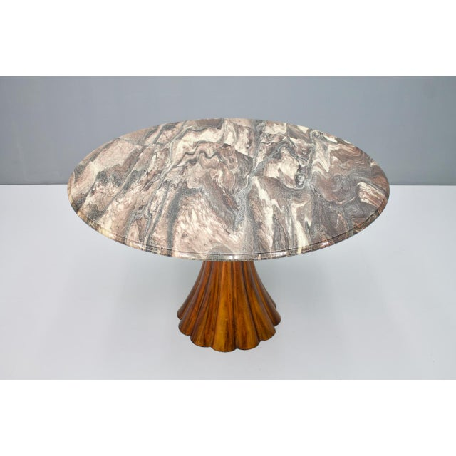 Fantastic Tulip Marble Dining Table Cast Metal Italy 1960s For Sale - Image 13 of 13