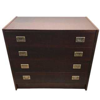 Rosewood Danish Modern Campaign Style Bachelors Chest