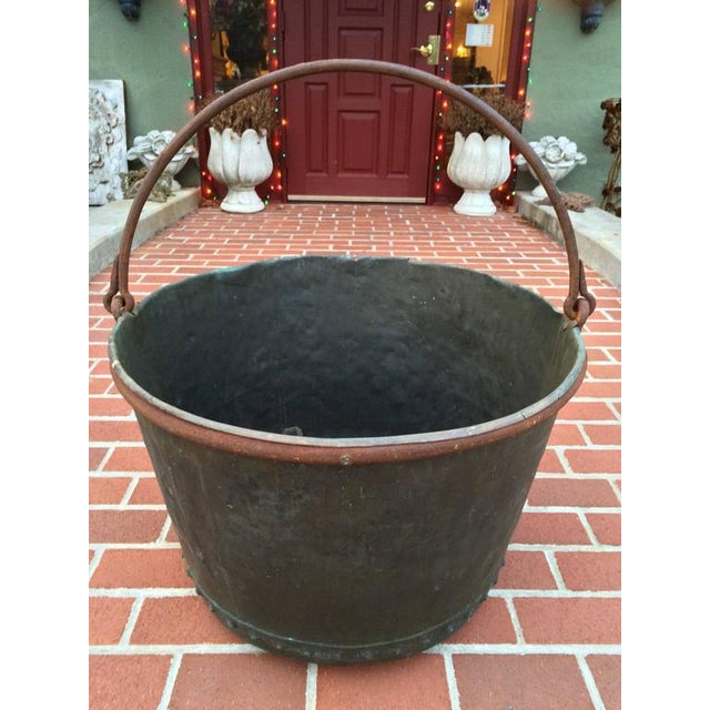 Large Early 19th Century Riveted Copper Log Holder For Sale - Image 10 of 11