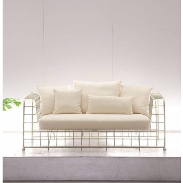 "Metal ""Architect"" Patio Sofa by Mathias Hoffman for Brown Jordan For Sale - Image 7 of 8"