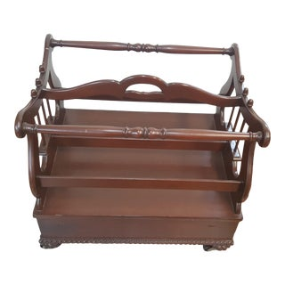 Hickory Chair Mt Vernon Canterbury Magazine Rack For Sale