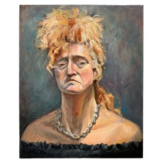 Contemporary Portrait of Woman Oil Painting For Sale
