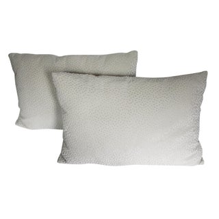 Cream Polka Dot Pillows - A Pair