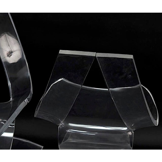 """Boris Tabacoff MMM """"Dumas"""" Lucite Chairs - a Pair For Sale - Image 6 of 9"""