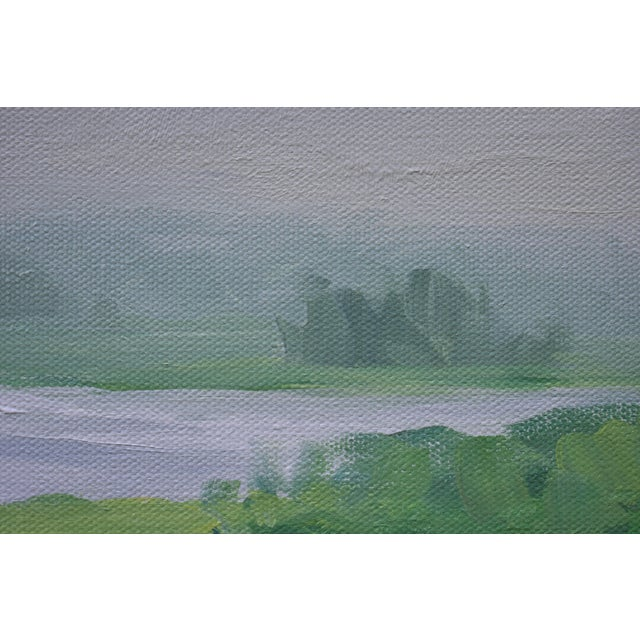 """Contemporary Plein Air Painting """"Adamsville Landing"""" by Stephen Remick For Sale In Providence - Image 6 of 13"""