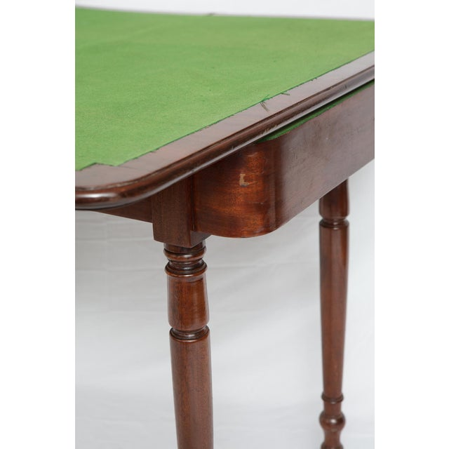Victorian Mahogany Folding Top Game Table - Image 4 of 7