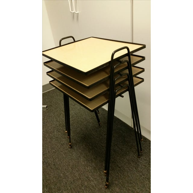 Mid-Century Stacking TV Tables - Set of 3 - Image 2 of 4