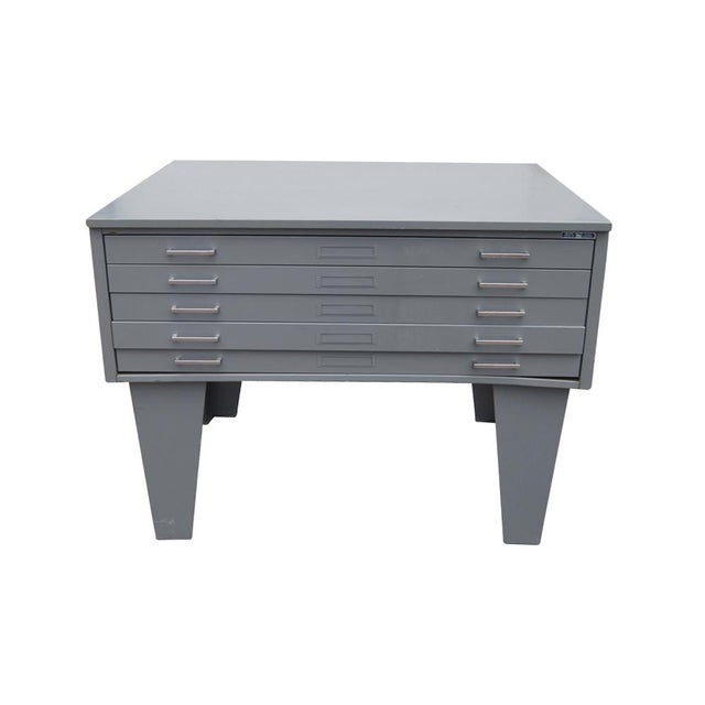 Vintage metal mayline five drawer lateral flat filing cabinet chairish vintage metal mayline five drawer lateral flat filing cabinet image 6 of 6 malvernweather Gallery