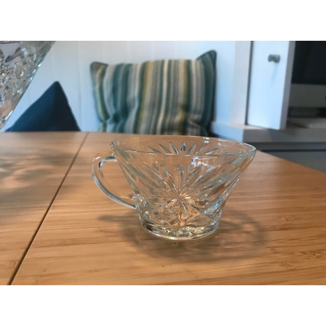 Anchor Hocking Star of David Punch Bowl Set For Sale In Los Angeles - Image 6 of 10