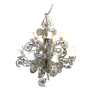 "Fine Art Lamps ""A Midsummer Night's Dream"" Traditional 15-Arm Crystal Chandelier For Sale"