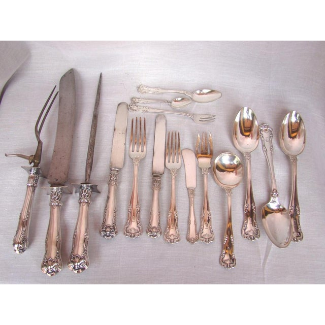 1950s Gorham Electroplate Flatware in Box, Service for 6 - 71 Pieces For Sale - Image 5 of 11