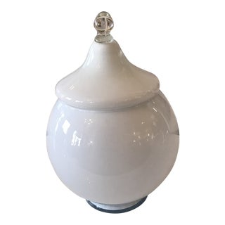 1960s Handblown Murano Glass Lidded Canister For Sale