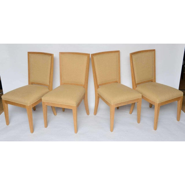 Tan Frank Game Table and Set of 4 Chairs by Mattaliano For Sale - Image 8 of 10