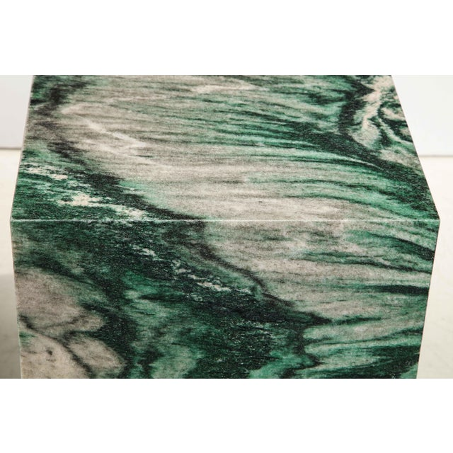 Green Polar Verde Marble Cubes or Side Tables - a Pair For Sale - Image 8 of 11