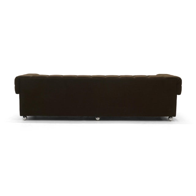 Textile Even Arm Tufted Chesterfield Sofa, 1970s, New Upholstery, Very Comfortable For Sale - Image 7 of 7