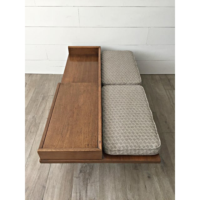 Merton L. Gershun for American of Martinsville Mid-Century Modern Coffee Table Bench - Image 8 of 9