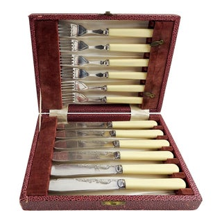 Cambridge Engraved Flatware Set For Sale