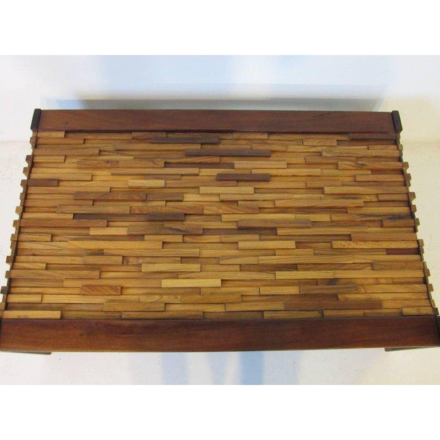 1980s Percival Lafer Brazilian Rosewood Folding Coffee Table For Sale - Image 5 of 7