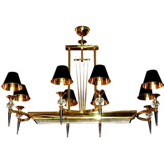 Vintage Maison Jansen Eight Light Chandelier For Sale