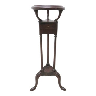 Queen Anne Mahogany Pedistal Plant Stand For Sale
