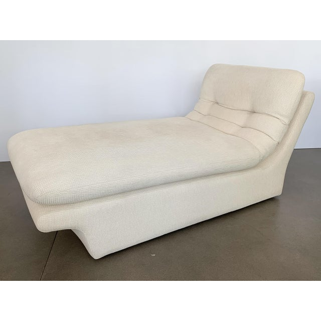 Preview Modernist Fully Upholstered Chaise Lounge by Preview For Sale - Image 4 of 13