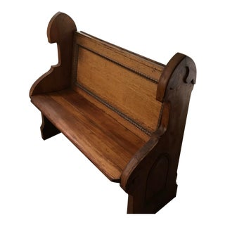 Oak Old Church Pew For Sale