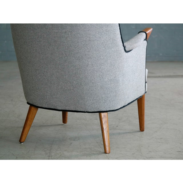 """Textile Svend Skipper """"Mama Bear"""" Wingback Lounge Chair For Sale - Image 7 of 11"""