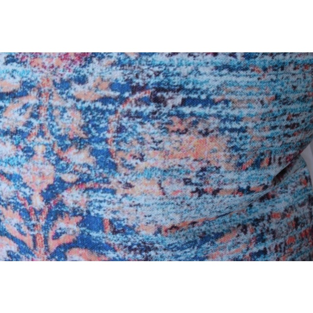 Blue Ikat Distressed Print Pillow Cover - A Pair For Sale - Image 4 of 5