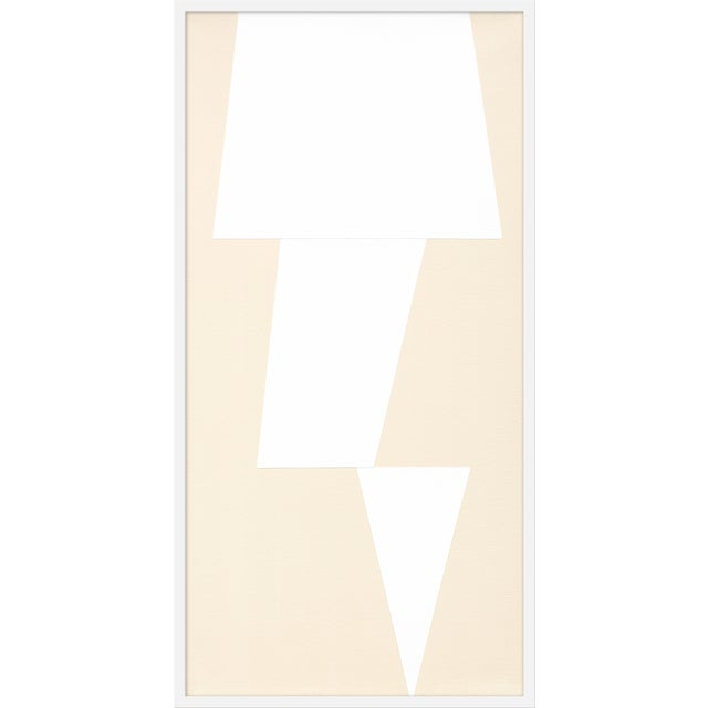 """Large """"Cream Jagged"""" Print by Jason Trotter, 26"""" X 51"""" For Sale"""