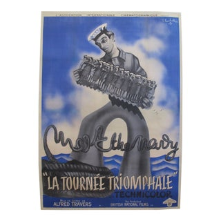 "1940's Original French Movie Poster, La Tournée Triomphale ""Meet the Navy"""