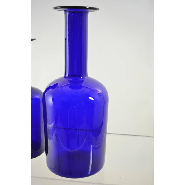 Danish Modern Holmegaard Vases in Two Sizes For Sale - Image 3 of 4