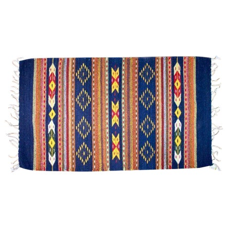 """Mexican Pedal-Loom Rug - 2' x 3'3"""" - Image 1 of 4"""