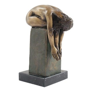 Figural Bronze Woman Sculpture For Sale