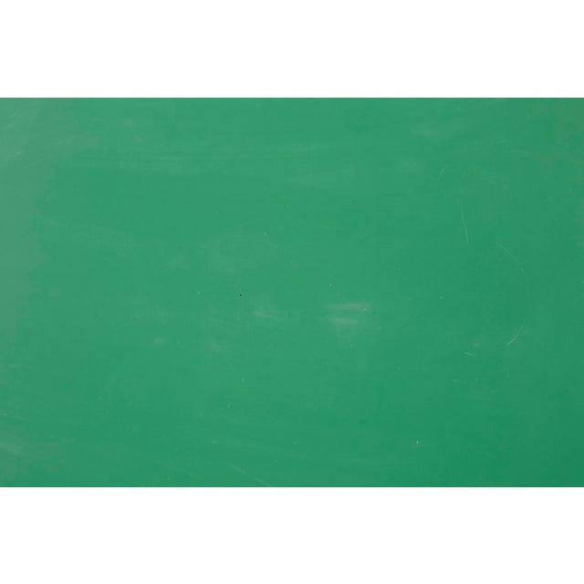 Les Arcs Enameled Green Table by Charlotte Perriand For Sale In Chicago - Image 6 of 9