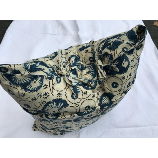 2010s Folk Art Les Indiennes Pillow Cover For Sale - Image 5 of 6