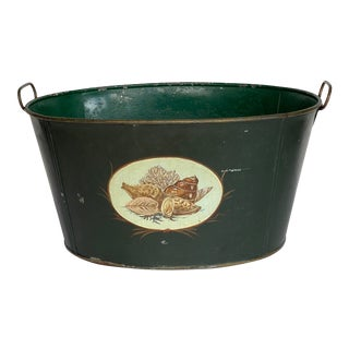 Vintage 1950s Green Tole Tub For Sale