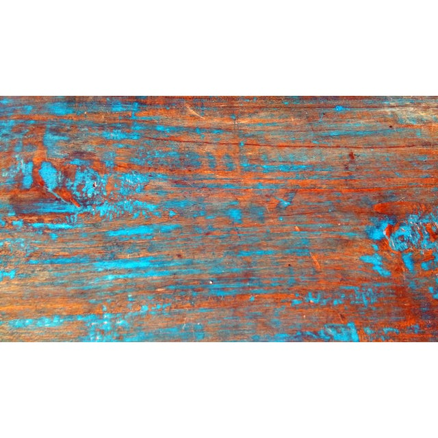 Reclaimed Wood & Antiqued Mirror Farm House Buffet - Image 10 of 11